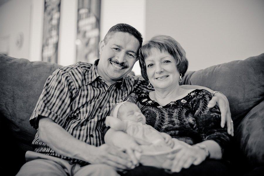 the proud grandparents