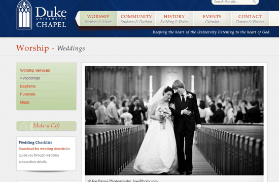 duke chapel weddings