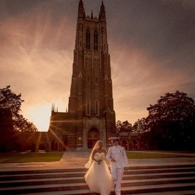 duke chapel weddings ~ claire and zach