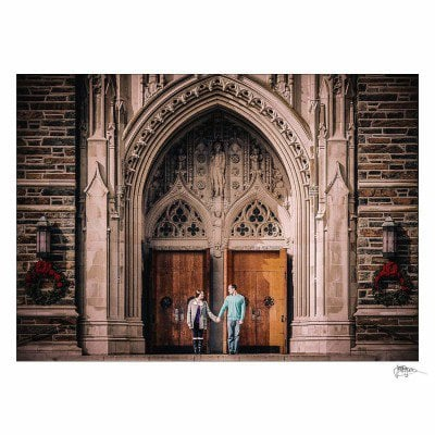 duke university engagement photography session – jordan & matt