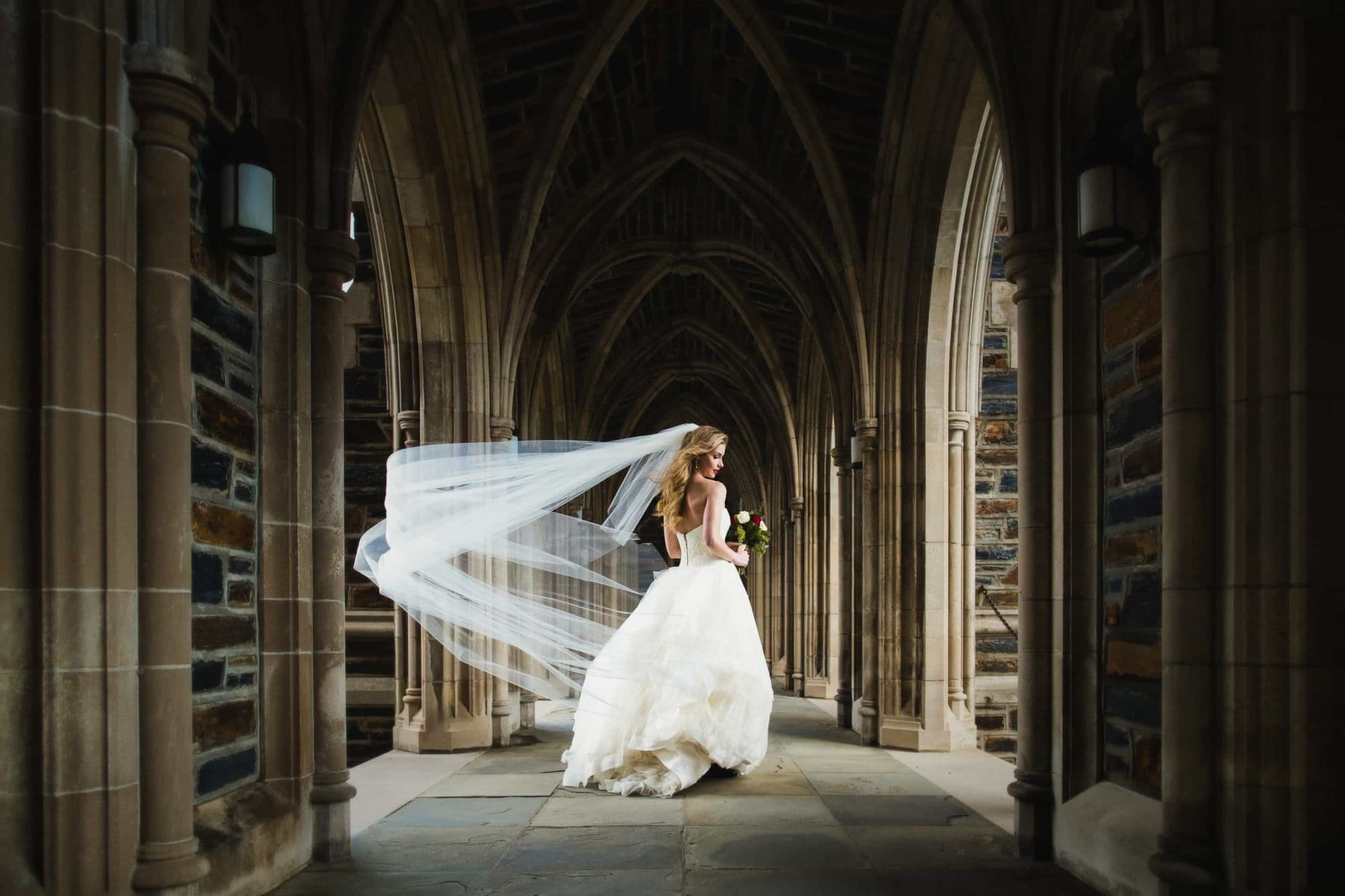Duke-Chapel-Wedding-Photography-Bride-Arcades-1