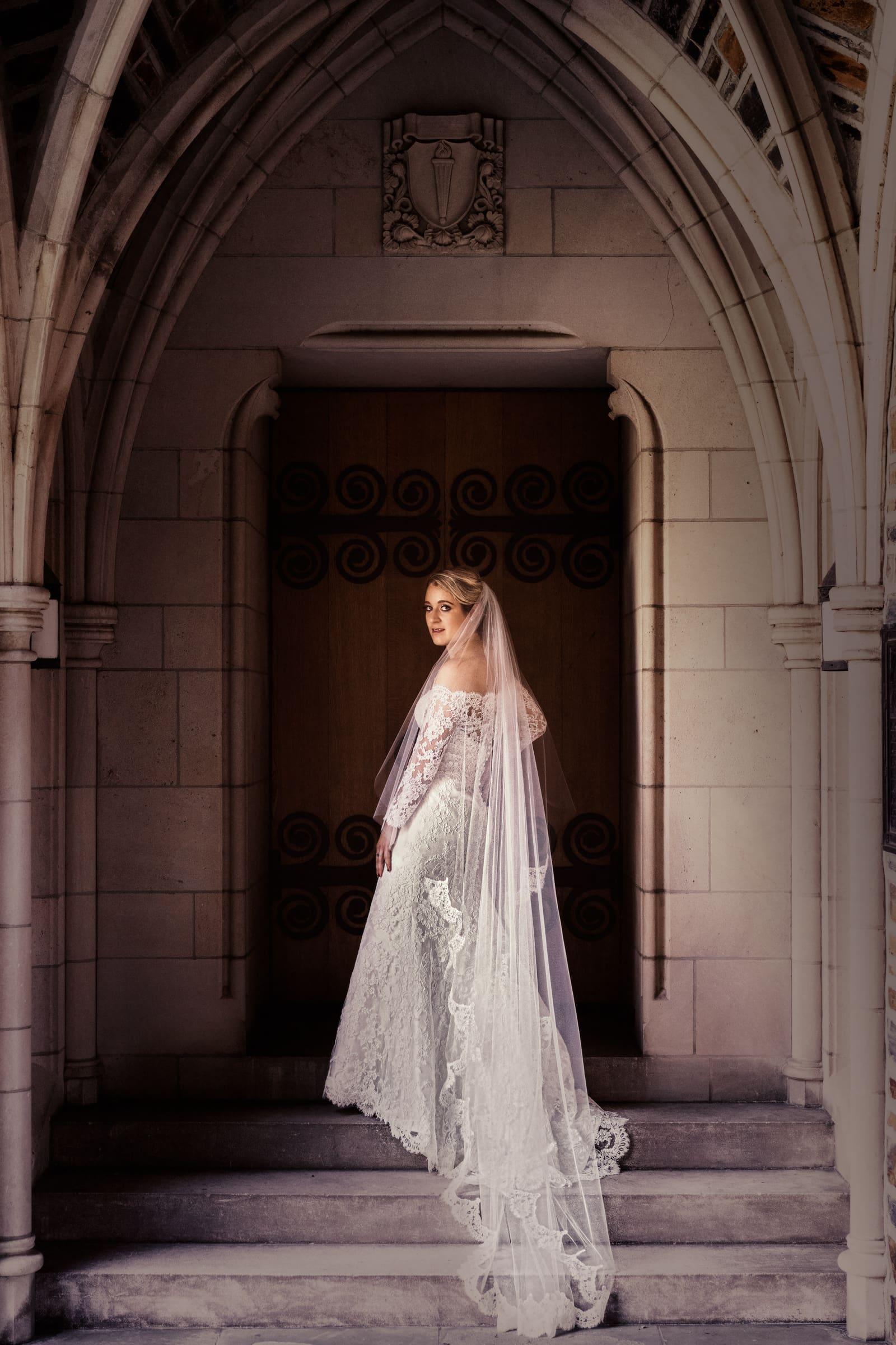 Duke Chapel Wedding Bridal Photo by Joe Payne