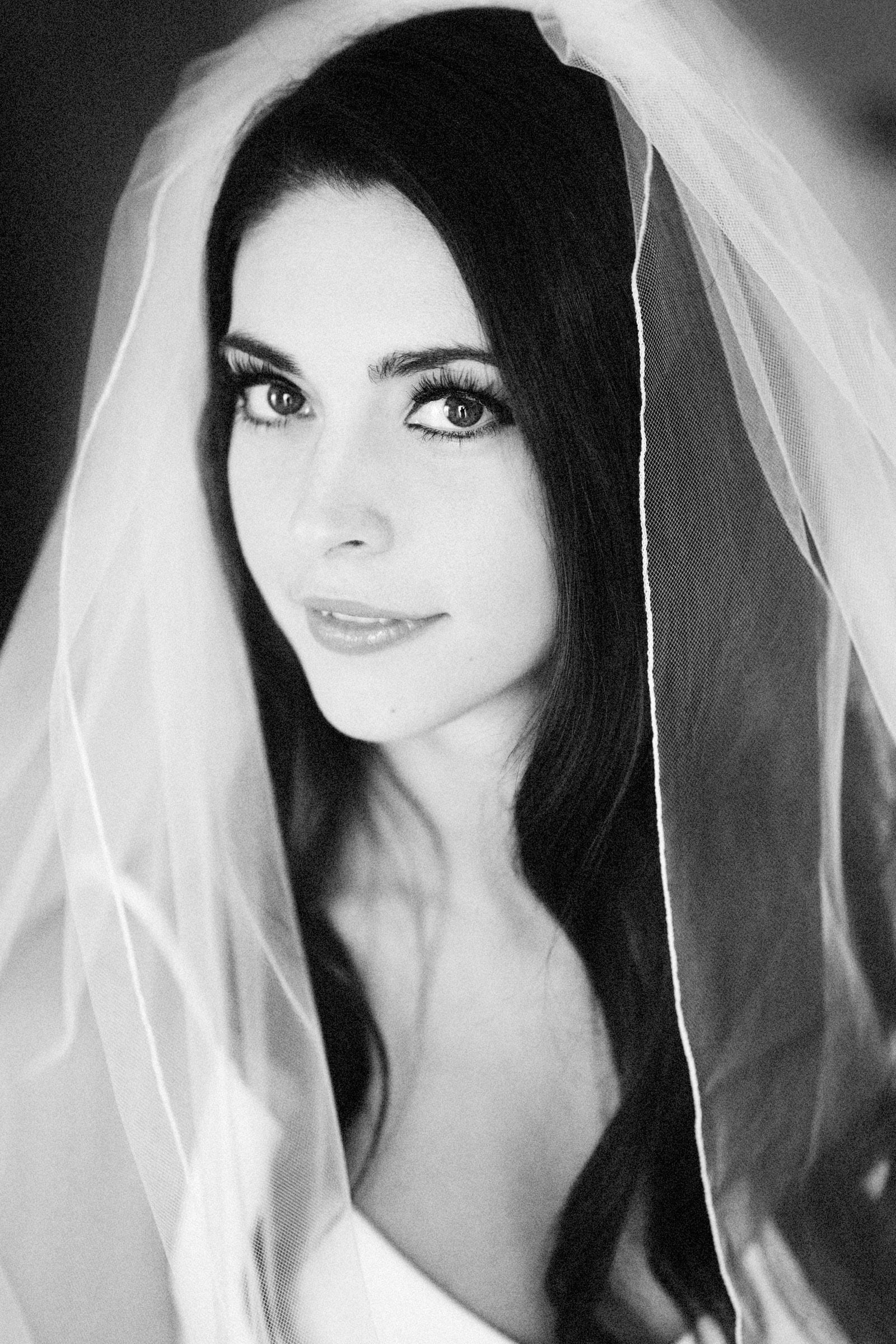 nikki bw bridal portrait 1