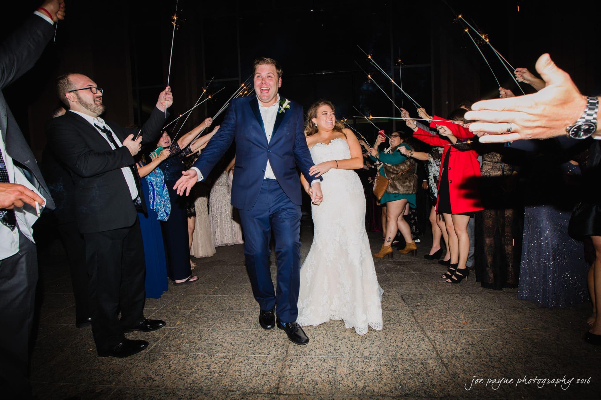 City Club Raleigh Wedding Photographer - Sparkler Exit