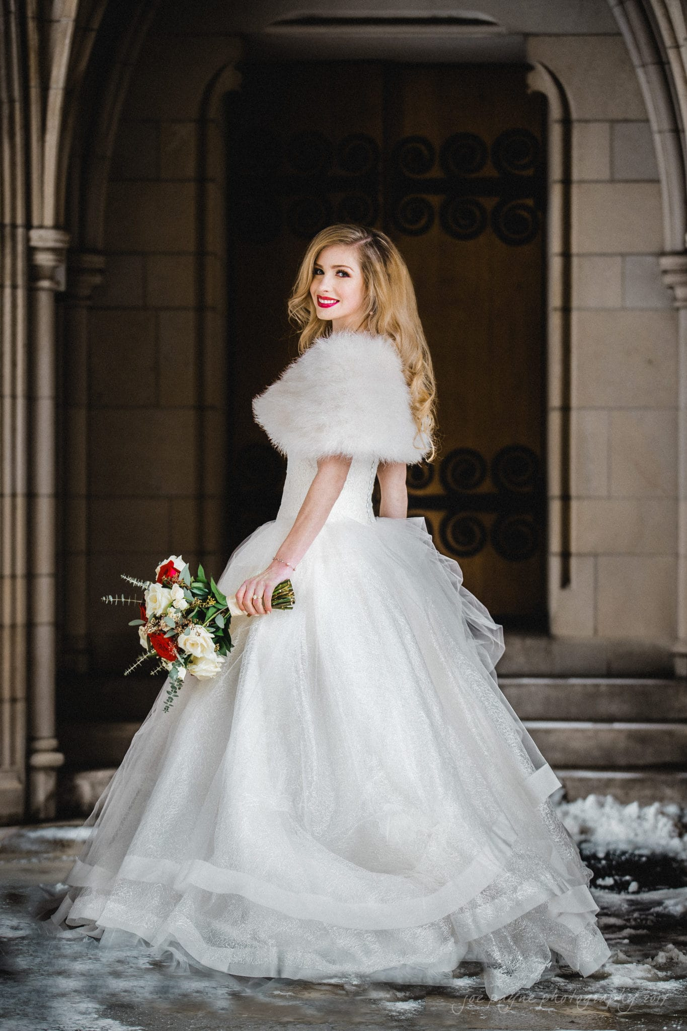 Snowy Duke Chapel Bridal Photo