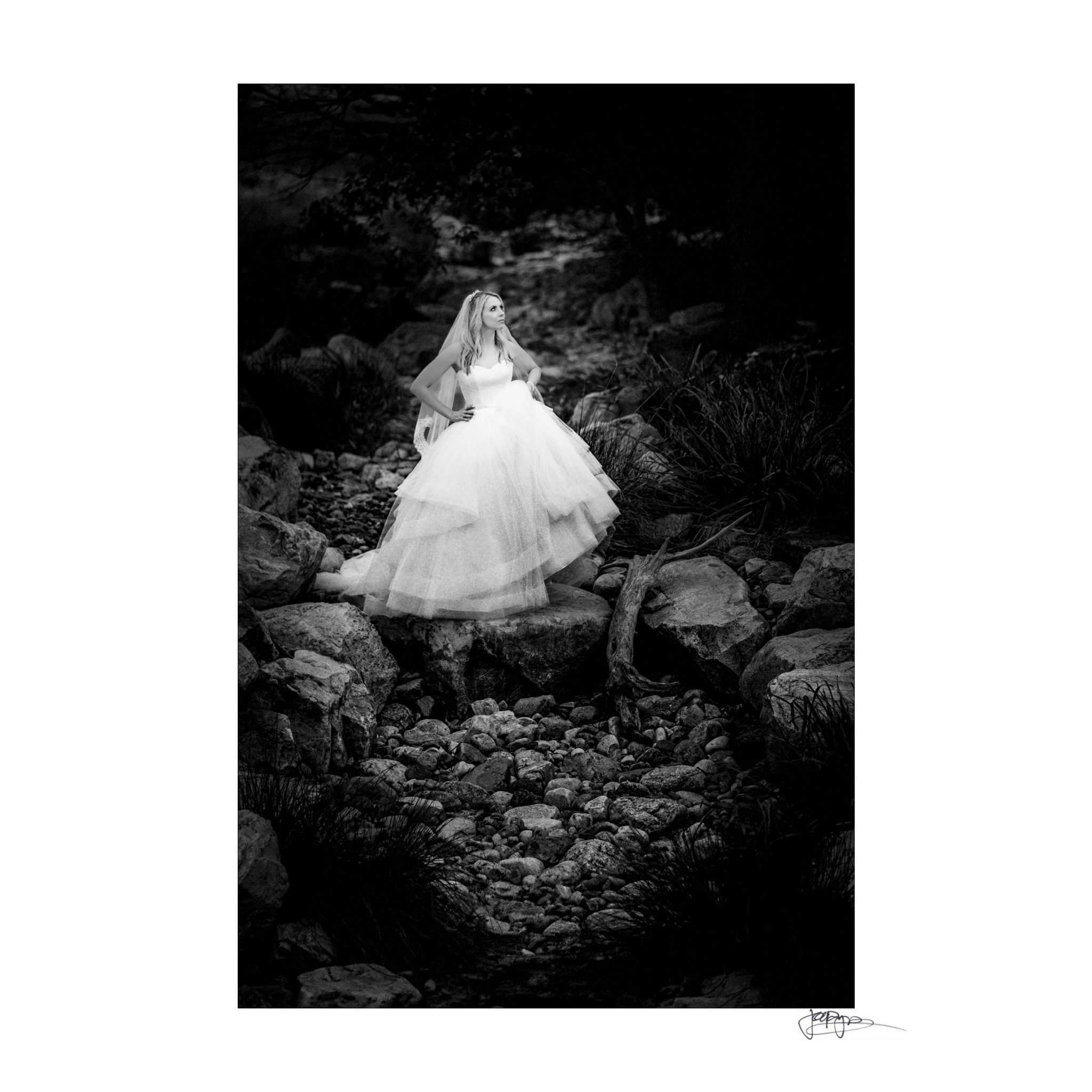 Umstead Hotel Wedding Black & White Bridal