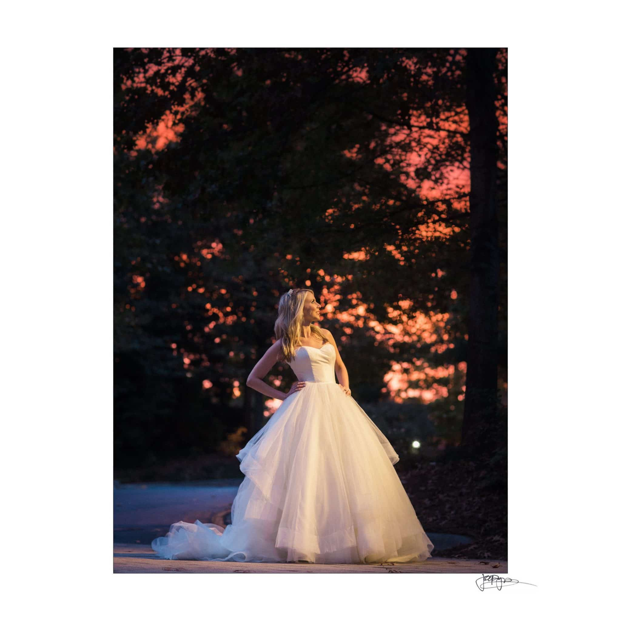 Umstead Hotel Wedding Sunset Sky