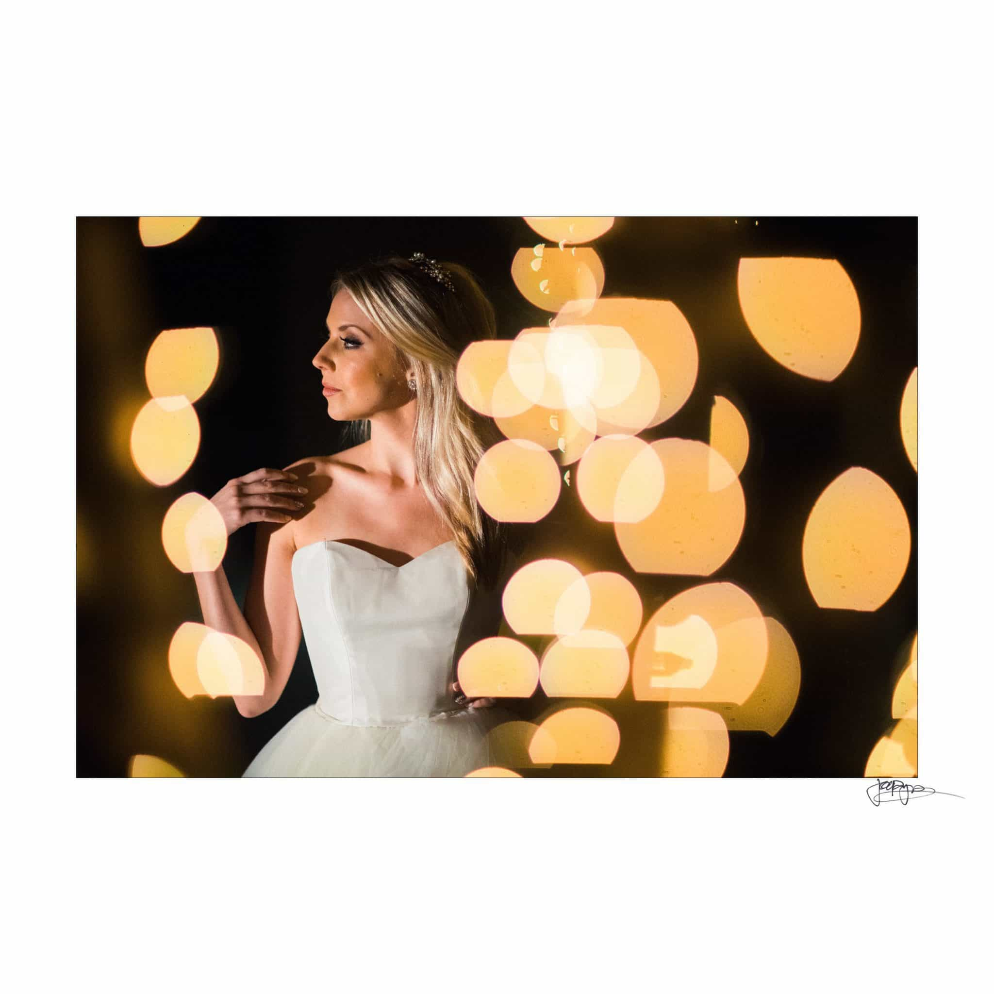 Umstead Hotel Wedding Bride in Lights