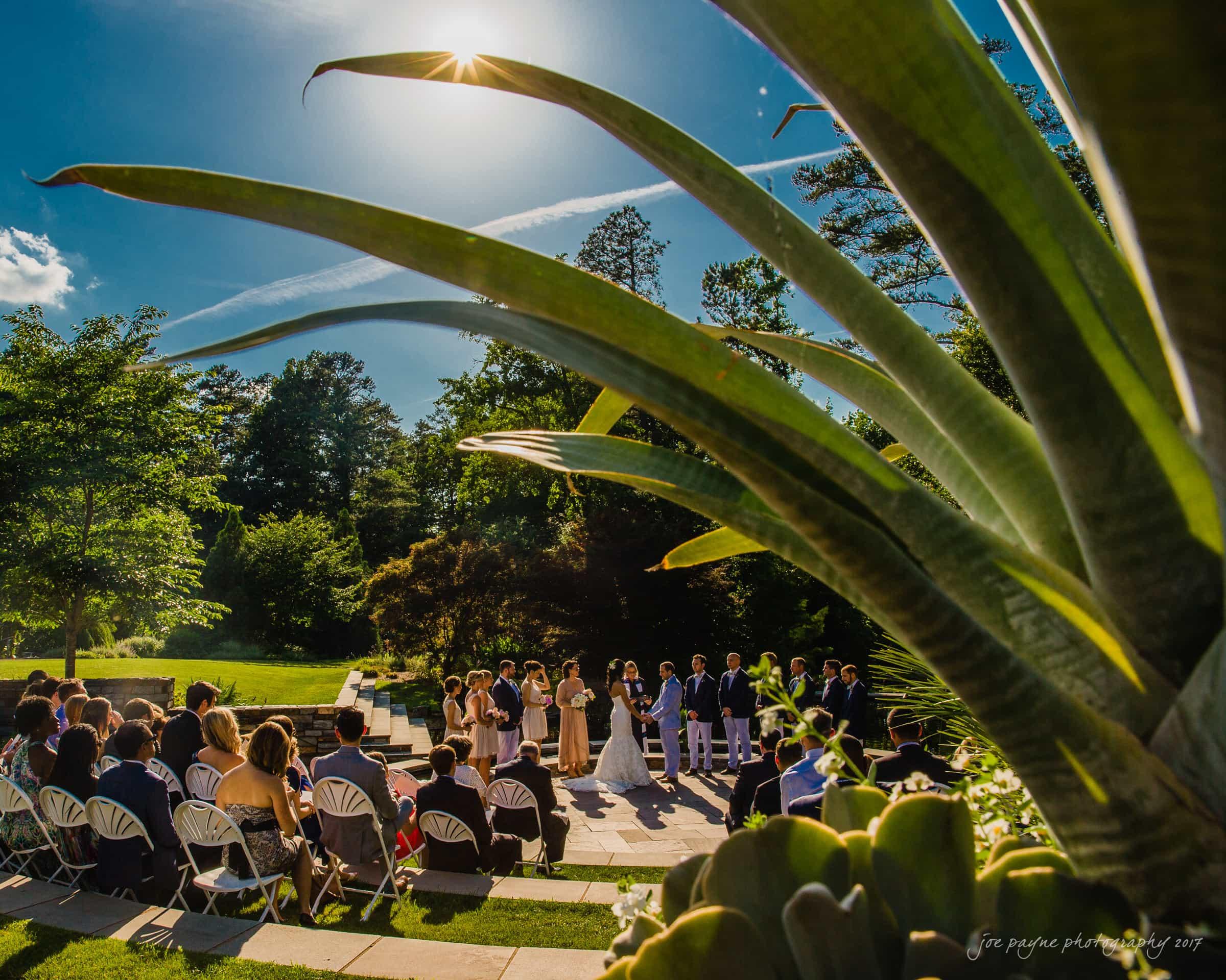 duke gardens wedding photography - joe payne photographer