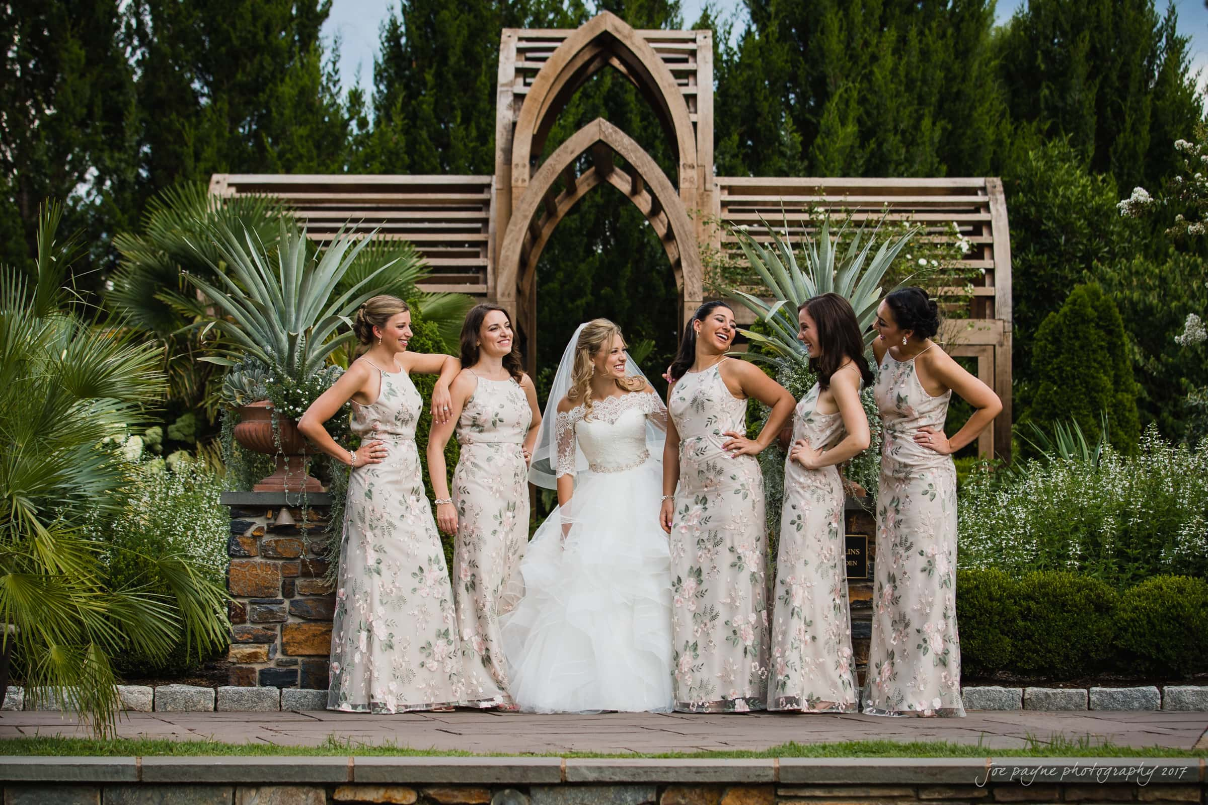 duke gardens wedding bridesmaids