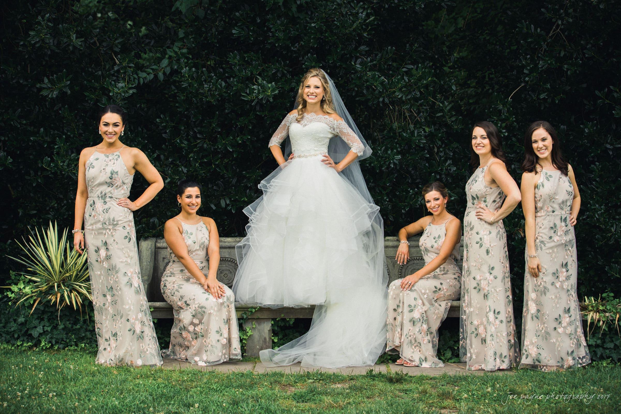 duke gardens wedding bride and bridesmaids