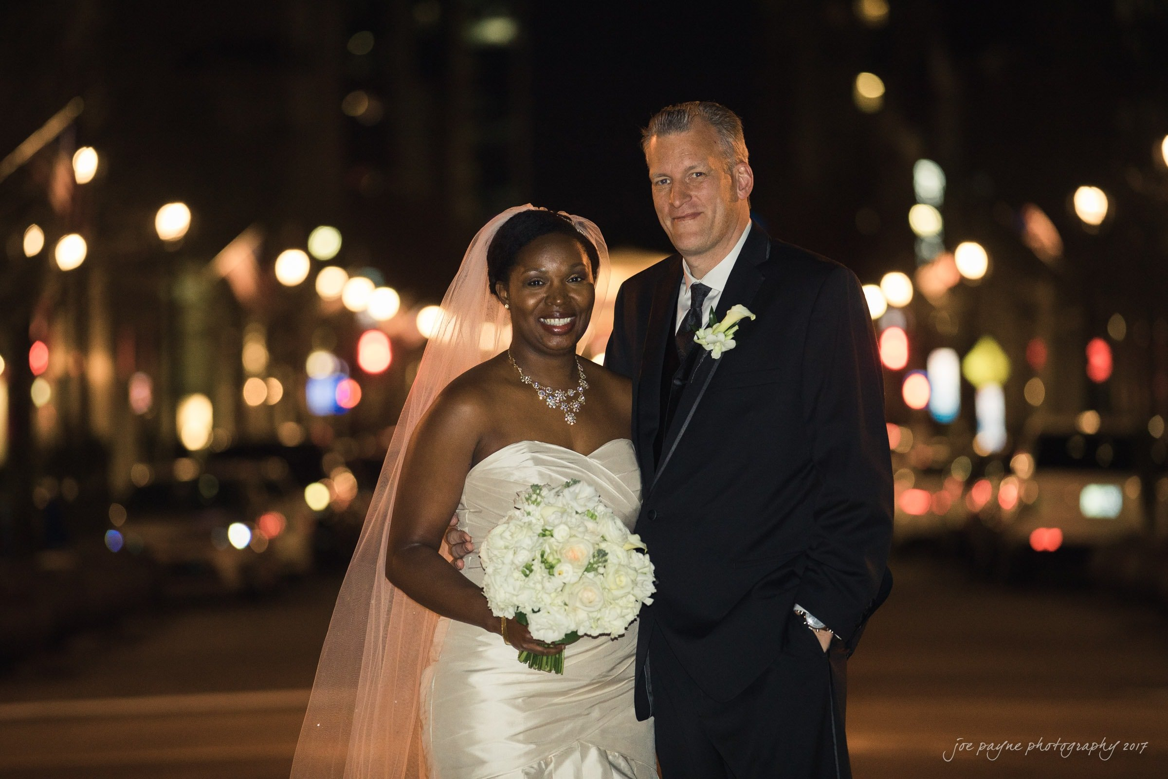 Downtown Raleigh Wedding Portrait Photo - Mali & Udo