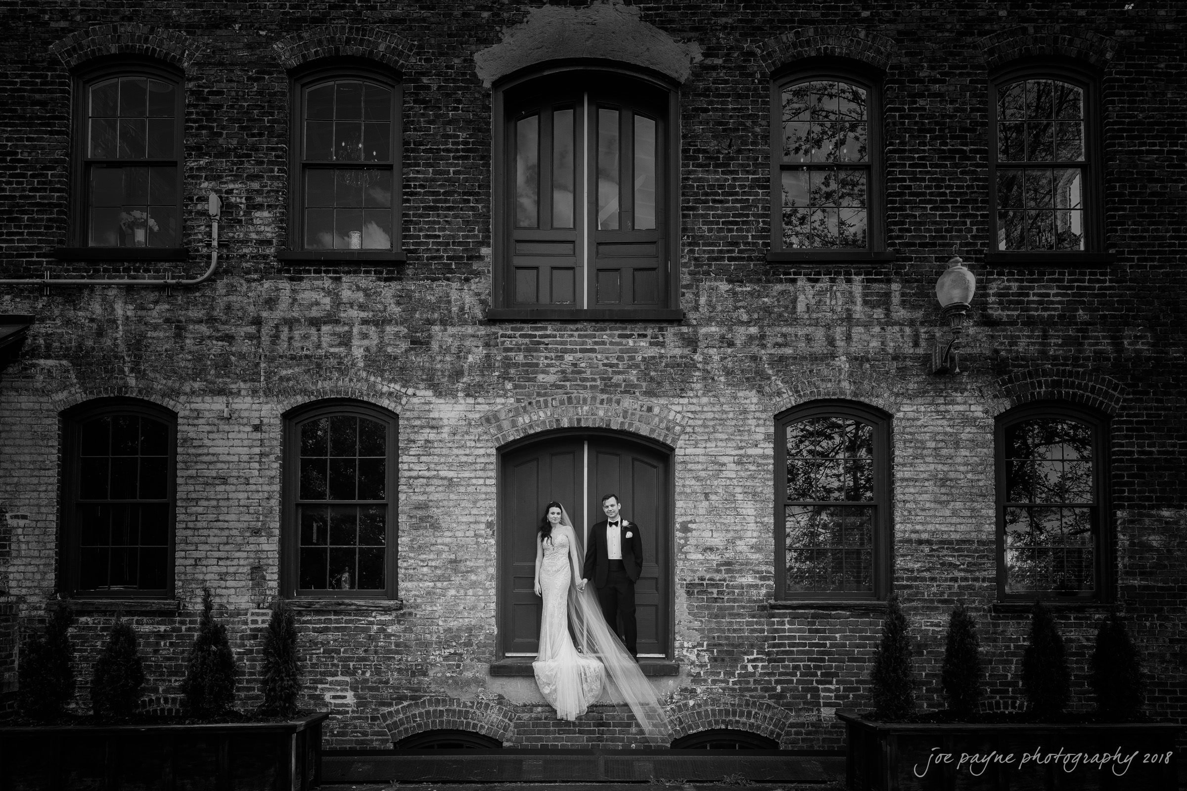 Melrose Knitting Mill B&W Couple Outside Vintage Look