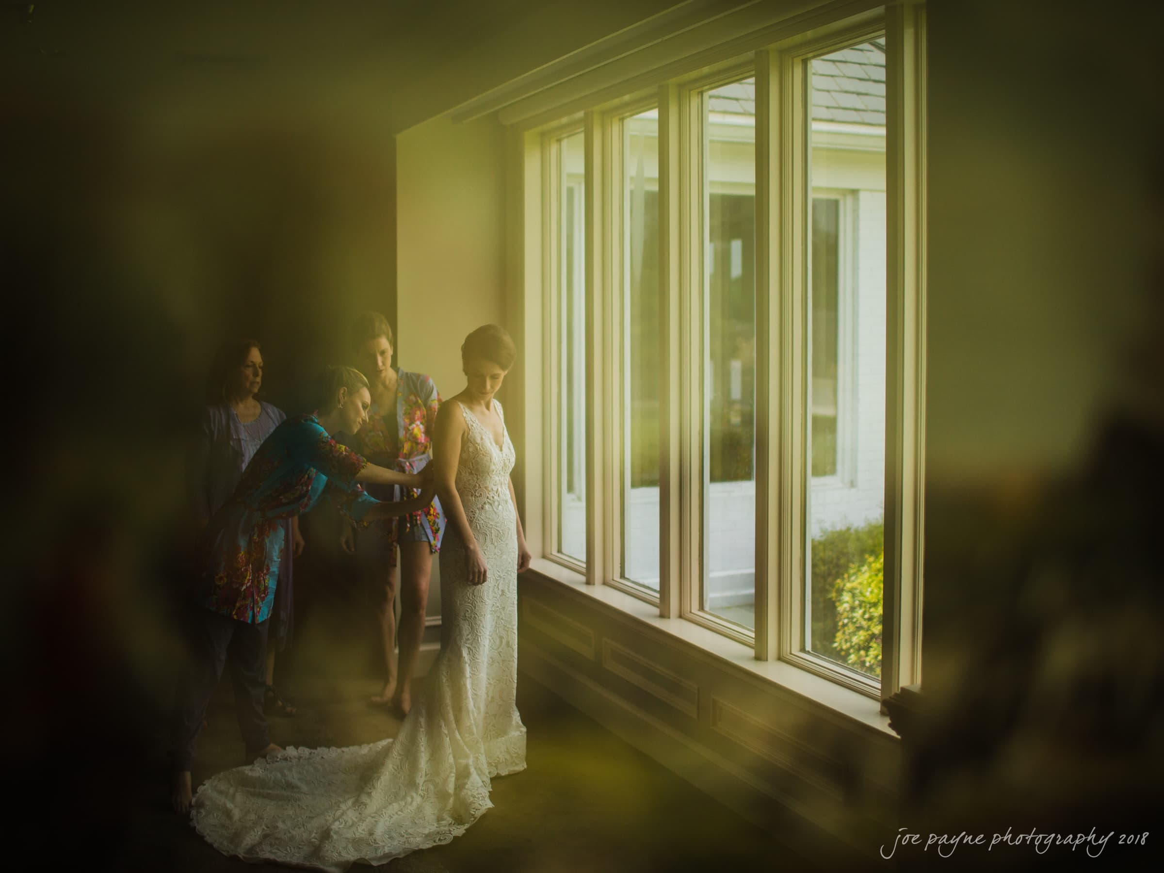 Hope Valley Country Club Wedding - Bride Getting Ready - Reflection in Painting