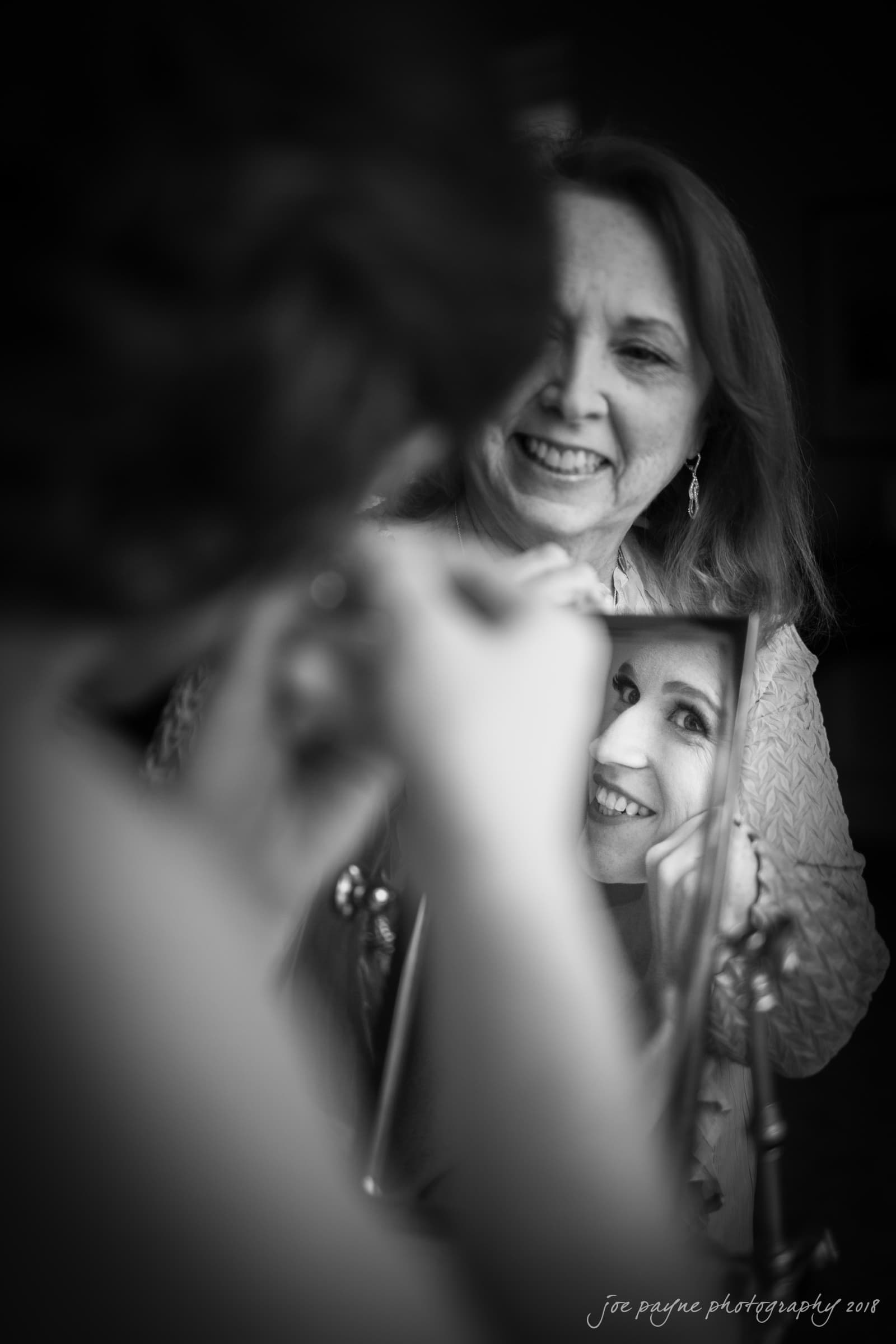 Hope Valley Country Club Wedding - Bride and Mum getting ready mirror