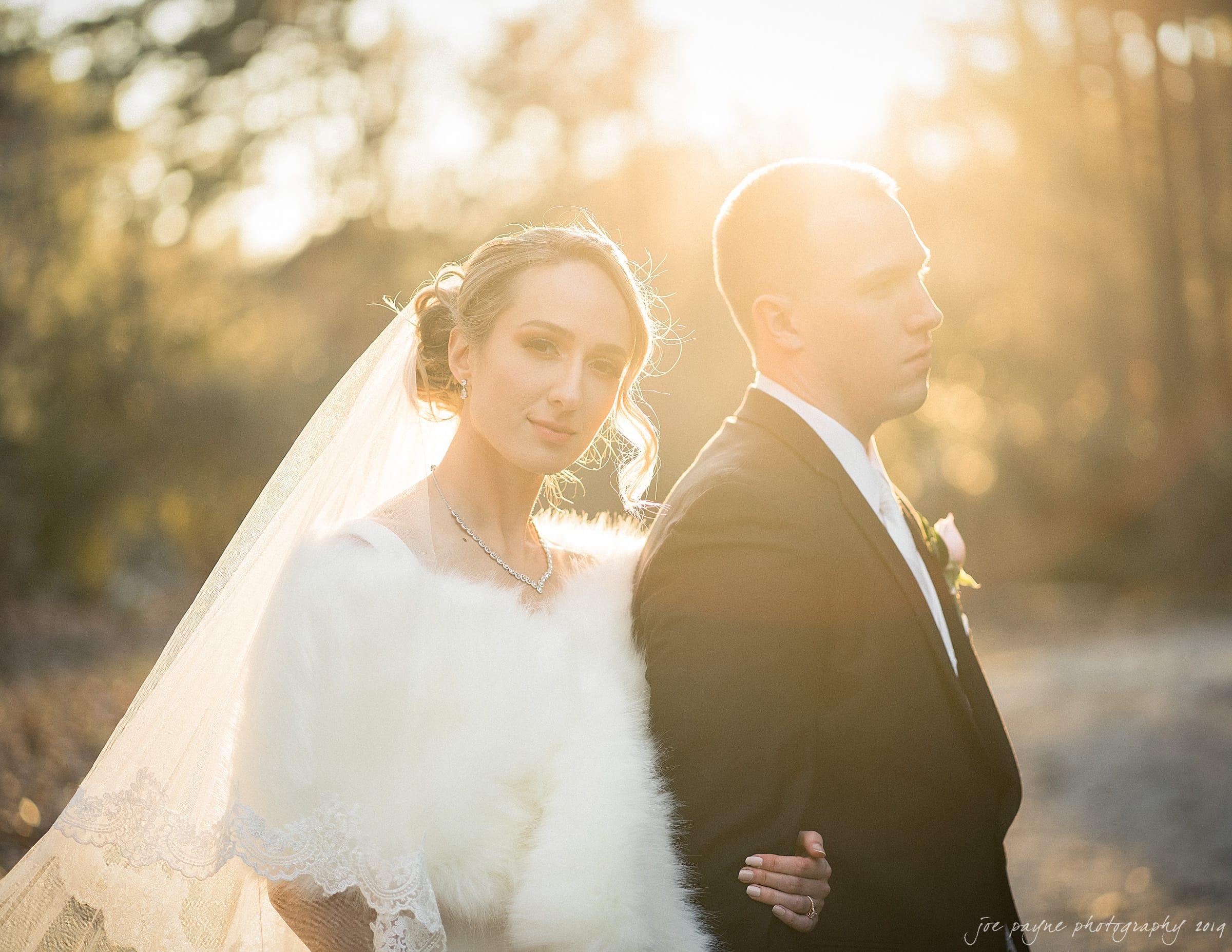 Duke Gardens Wedding Photo Kathleen Michael Sunset-1