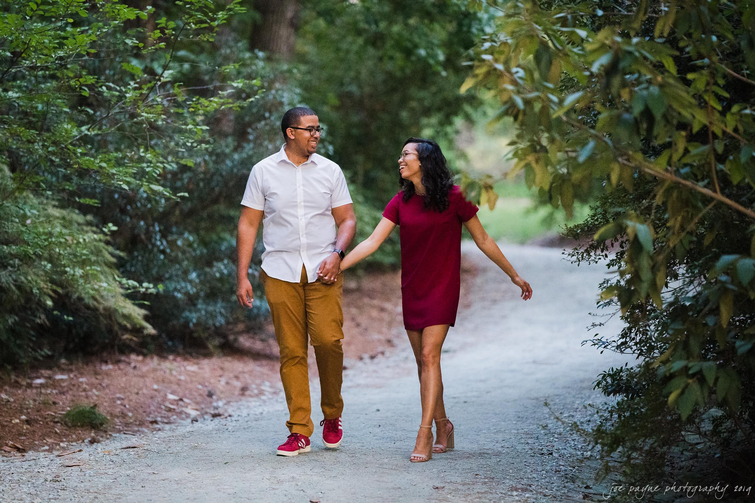 duke gardens engagement session | krystina & justin