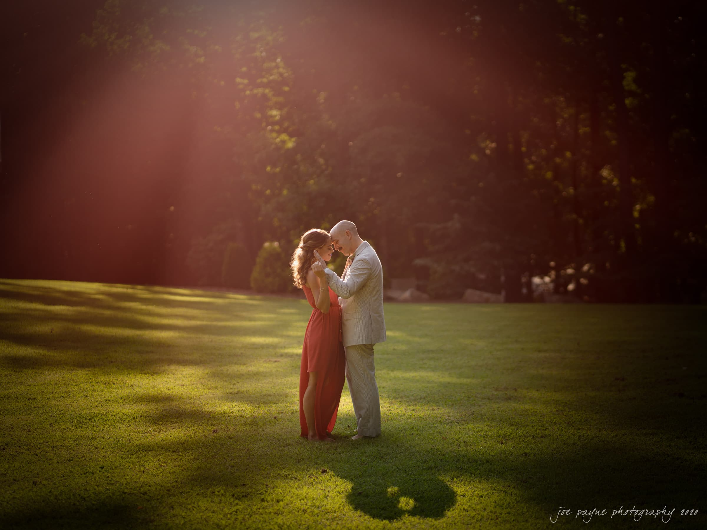 intimate umstead wedding - first dance alone at sunset