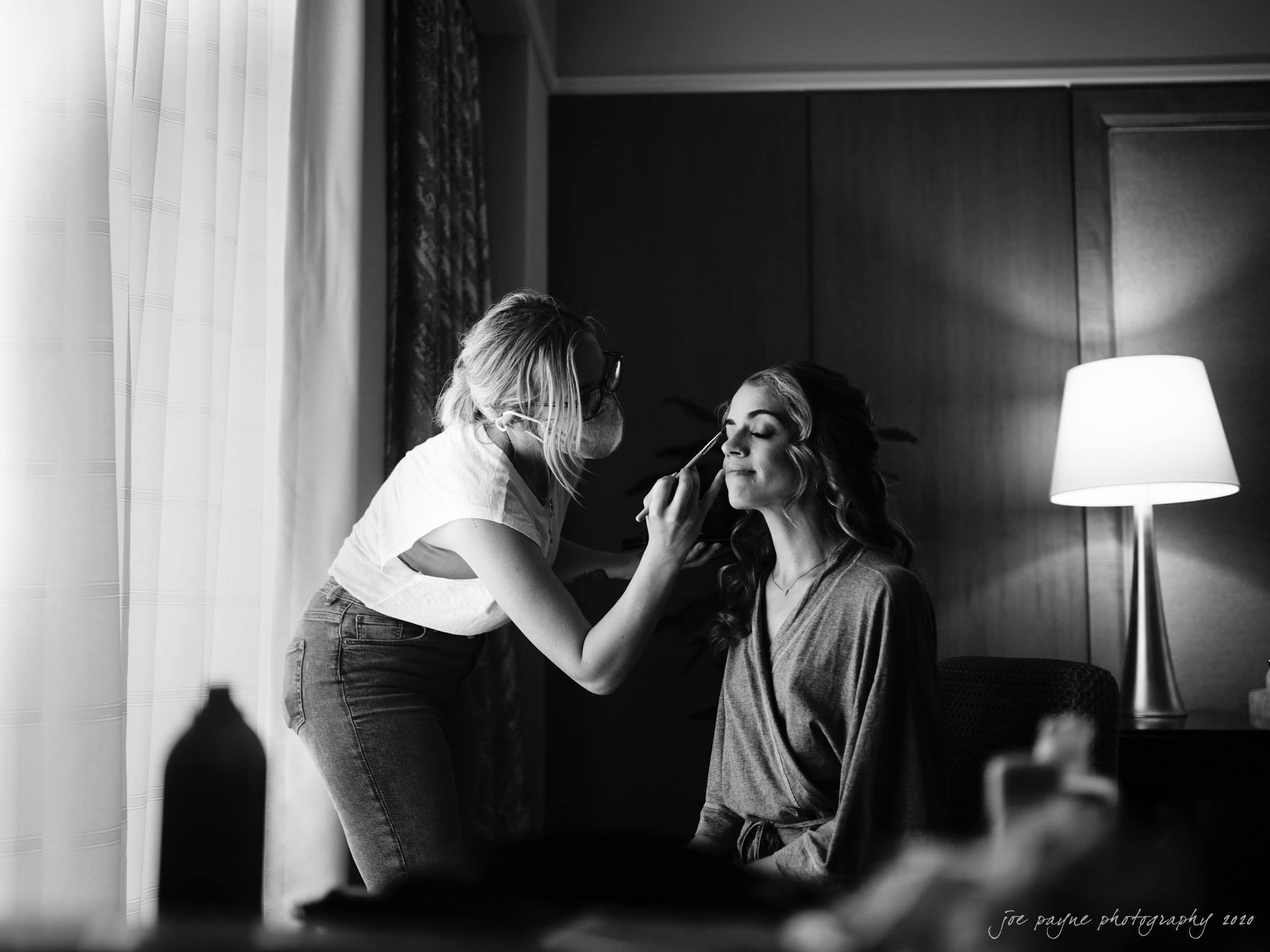 intimate umstead wedding - bride getting ready