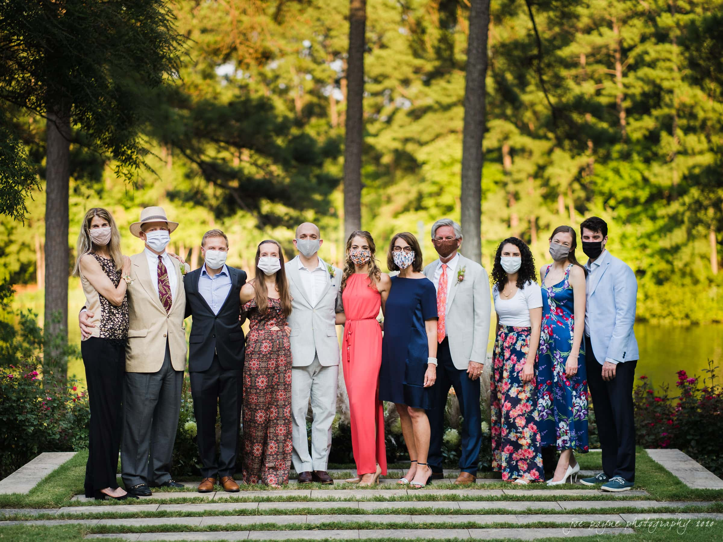 intimate umstead wedding - wedding party during covid pandemic