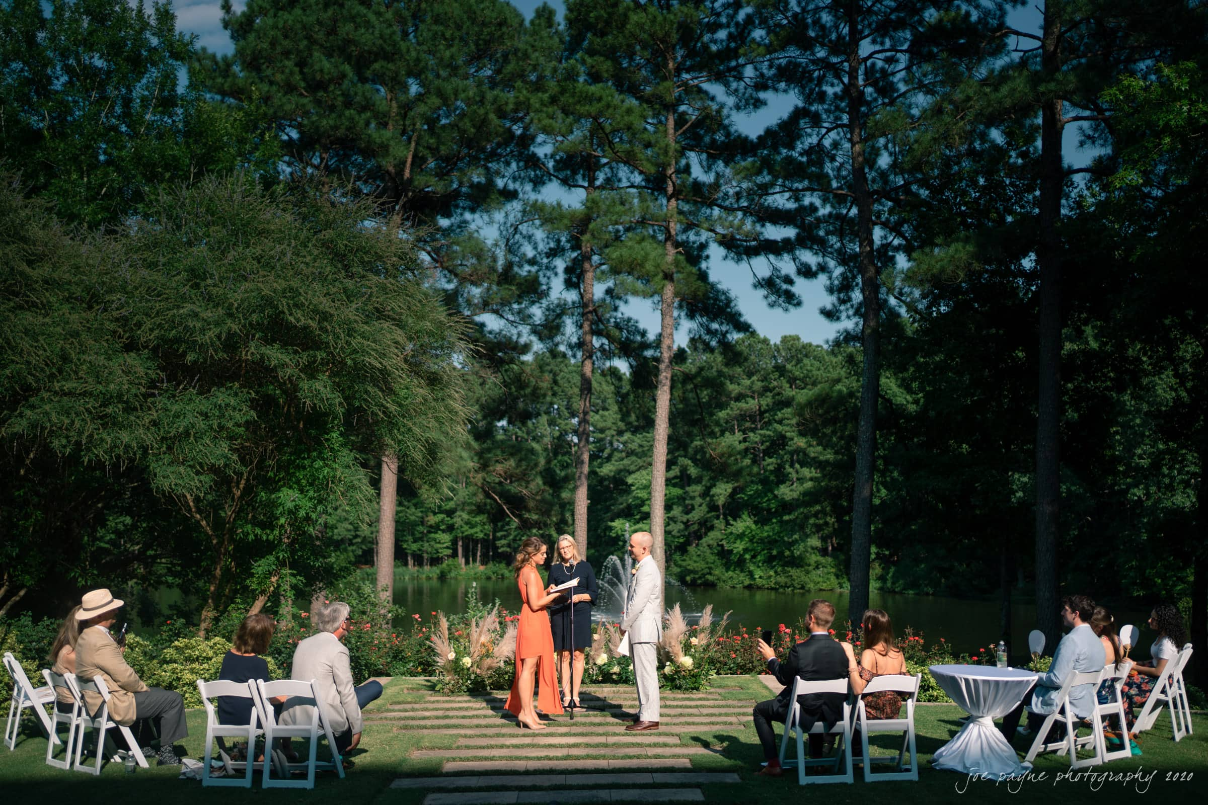 intimate umstead wedding ceremony during covid pandemic