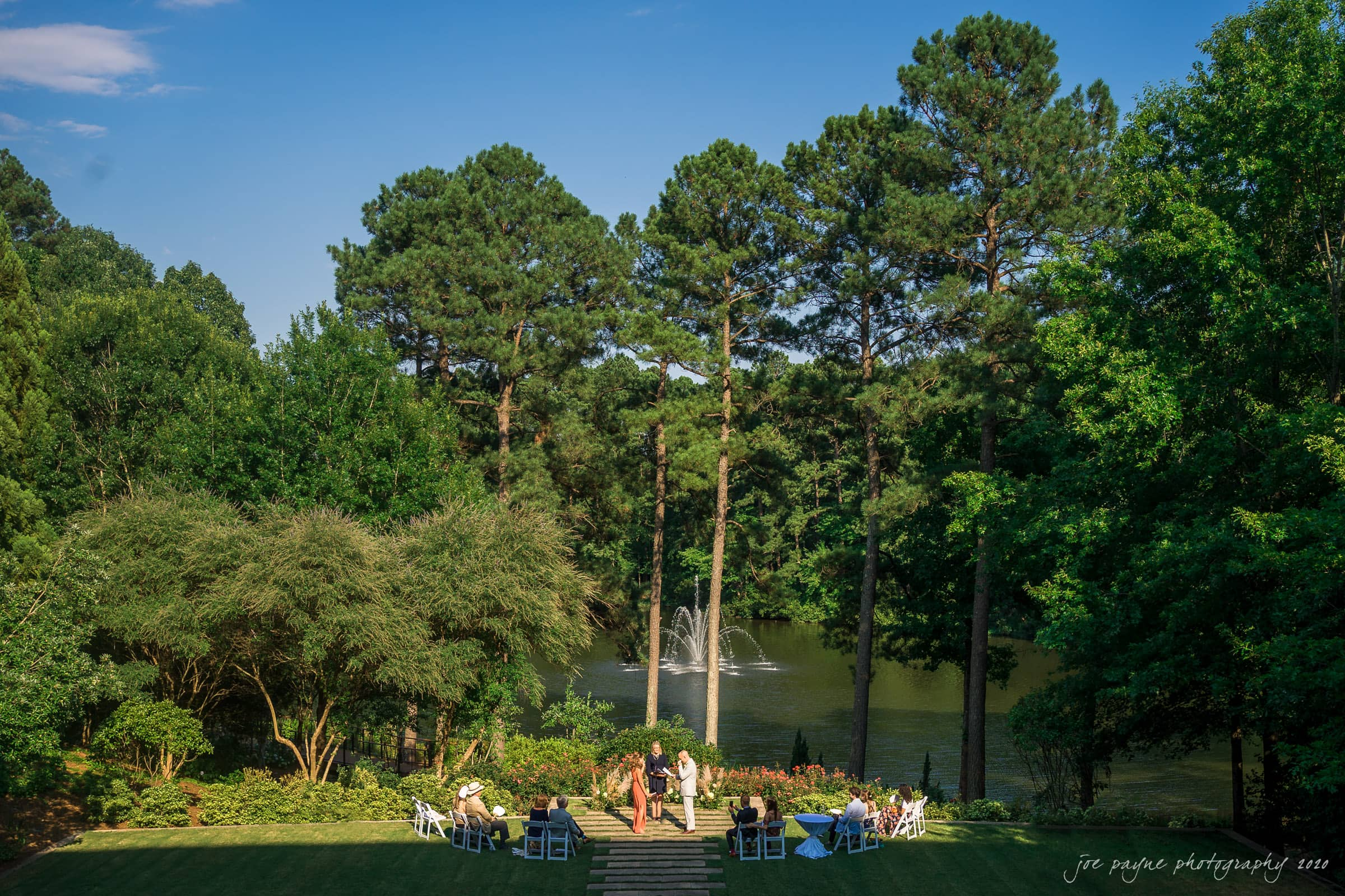 intimate umstead wedding - panorama