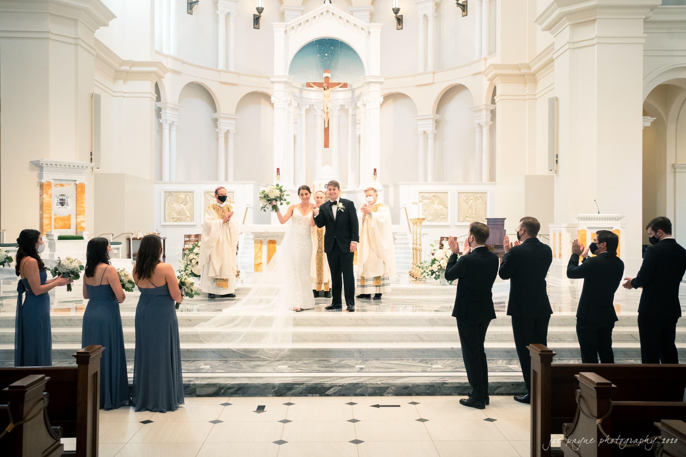 holy name of jesus & angus barn wedding – natalie & joseph