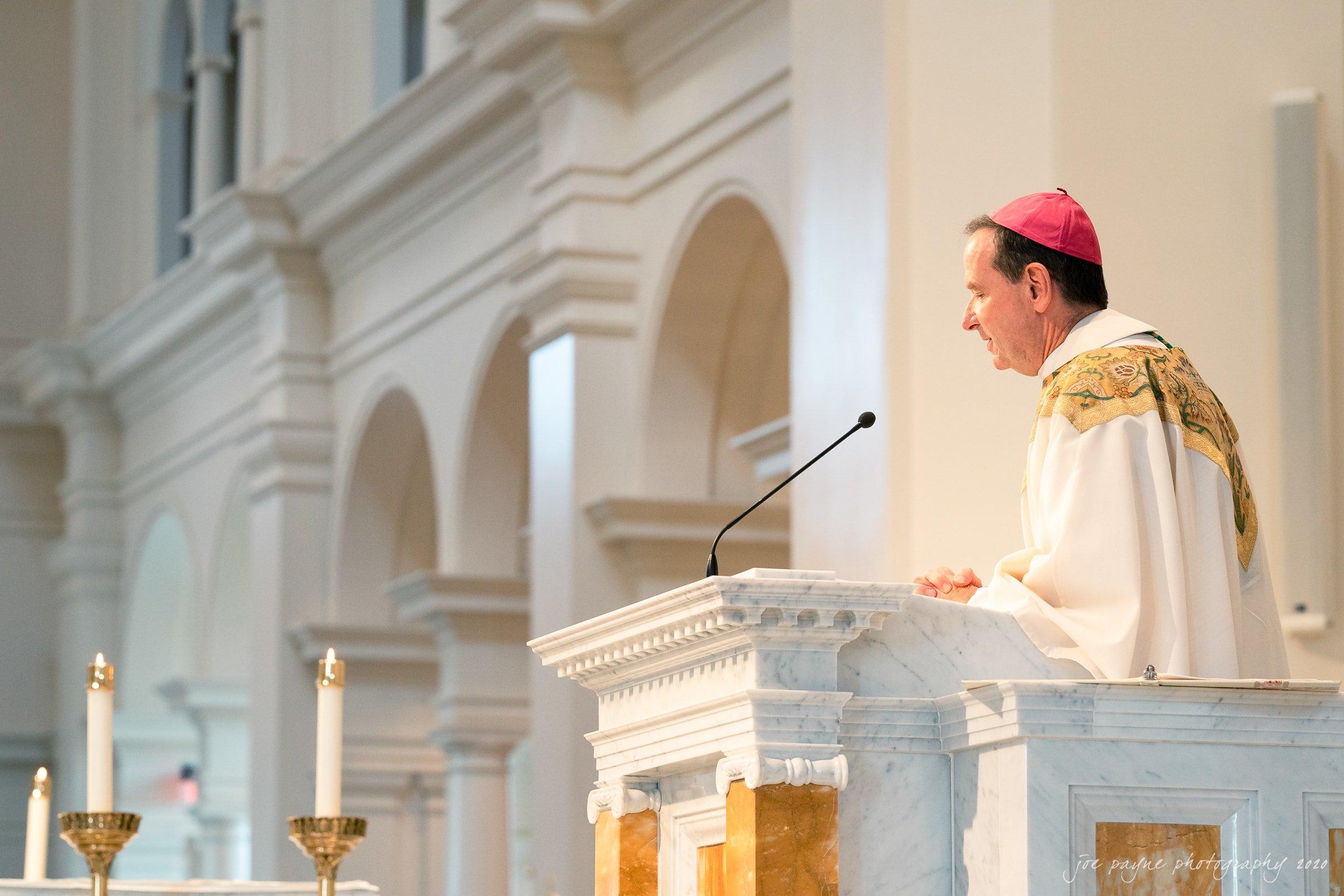 holy name of Jesus wedding Most Reverend Michael F. Burbidge