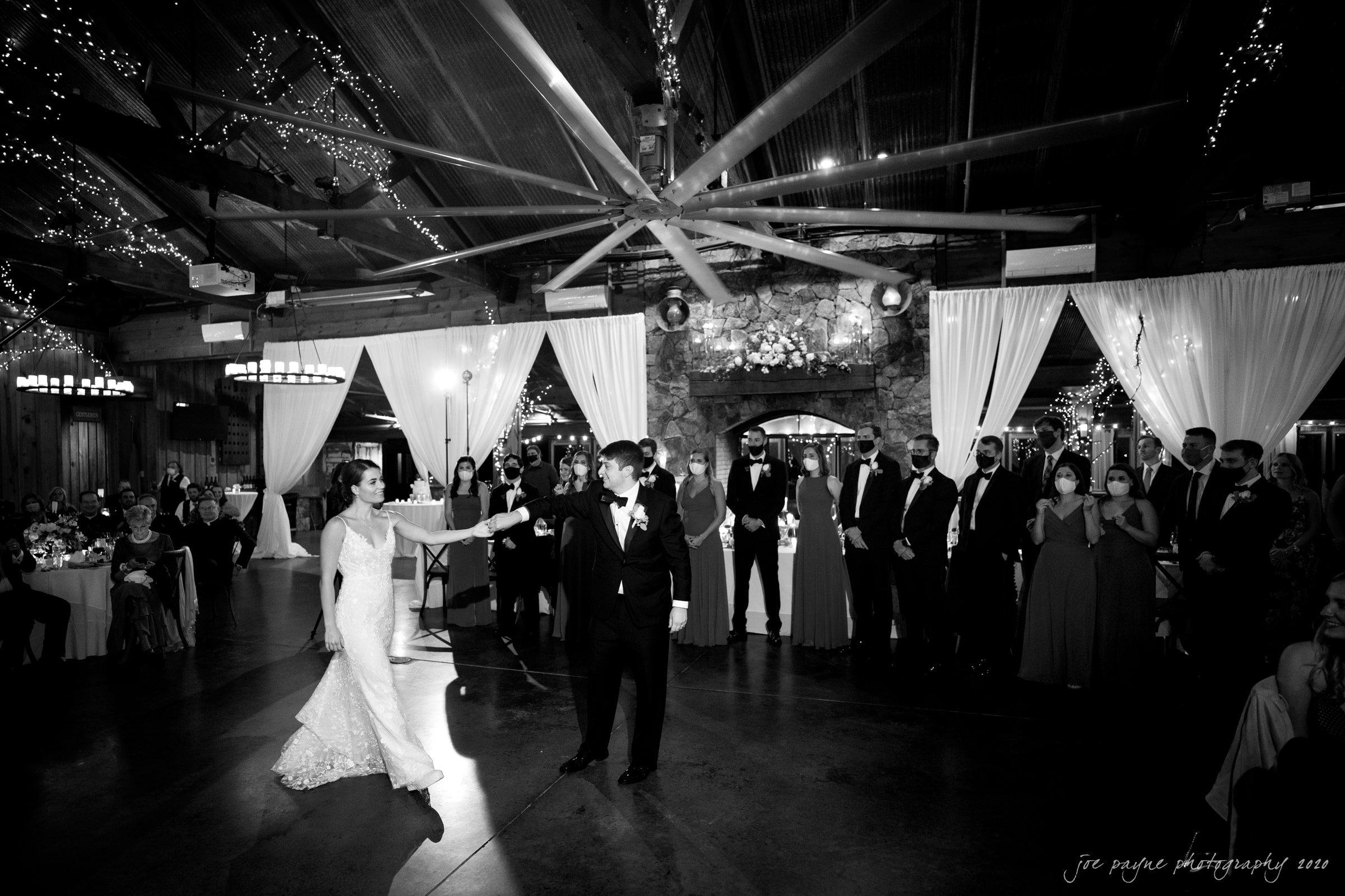 Pavilion at Angus Barn Wedding first dance