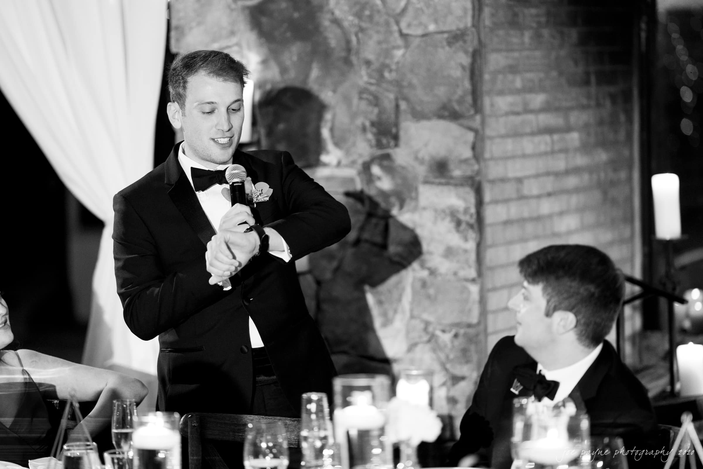Pavilion at Angus Barn Wedding grooms brother speech