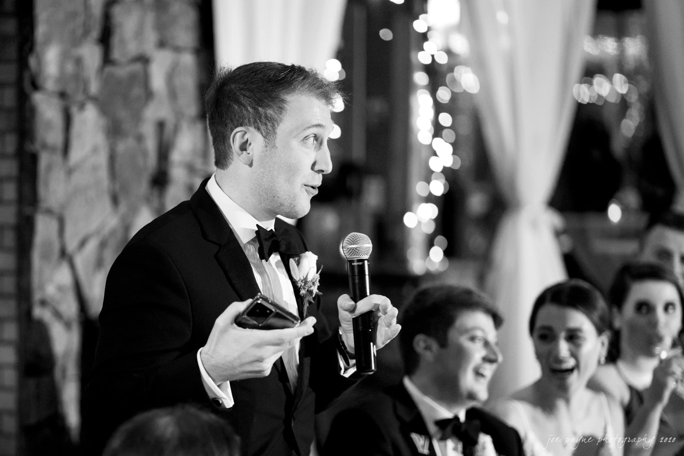 Pavilion at Angus Barn Wedding best man speech