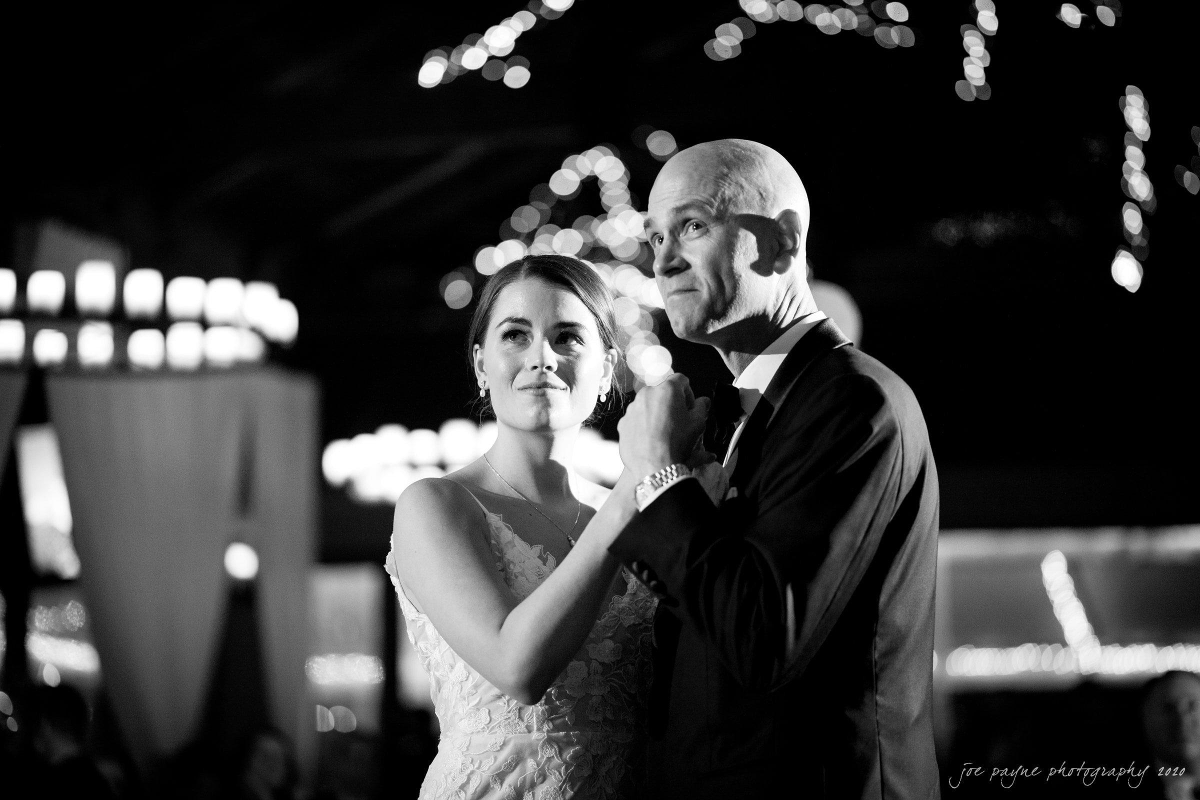 Pavilion at Angus Barn Wedding emotional father of bride parent dance
