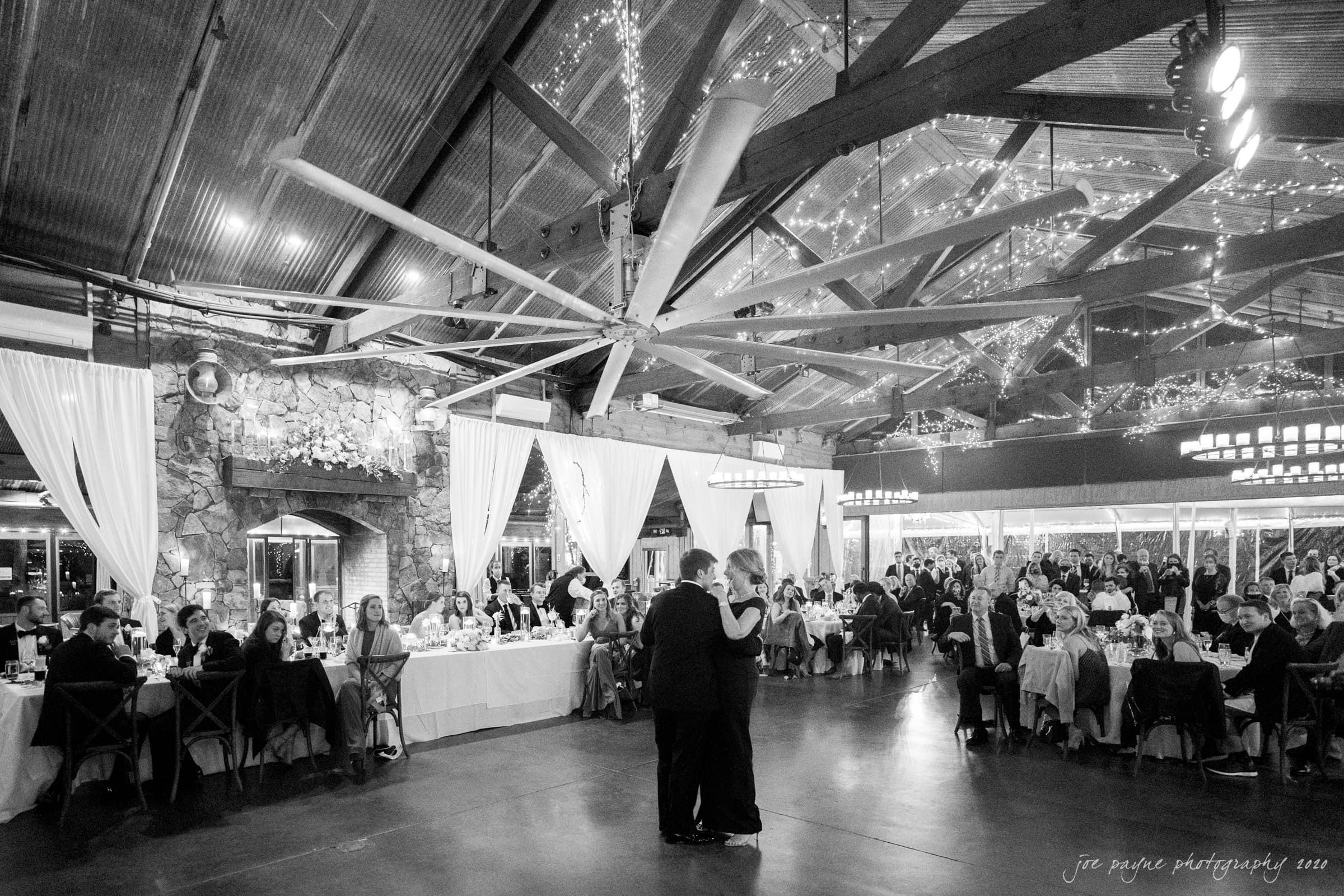 Pavilion at Angus Barn Wedding mother of groom parent dance