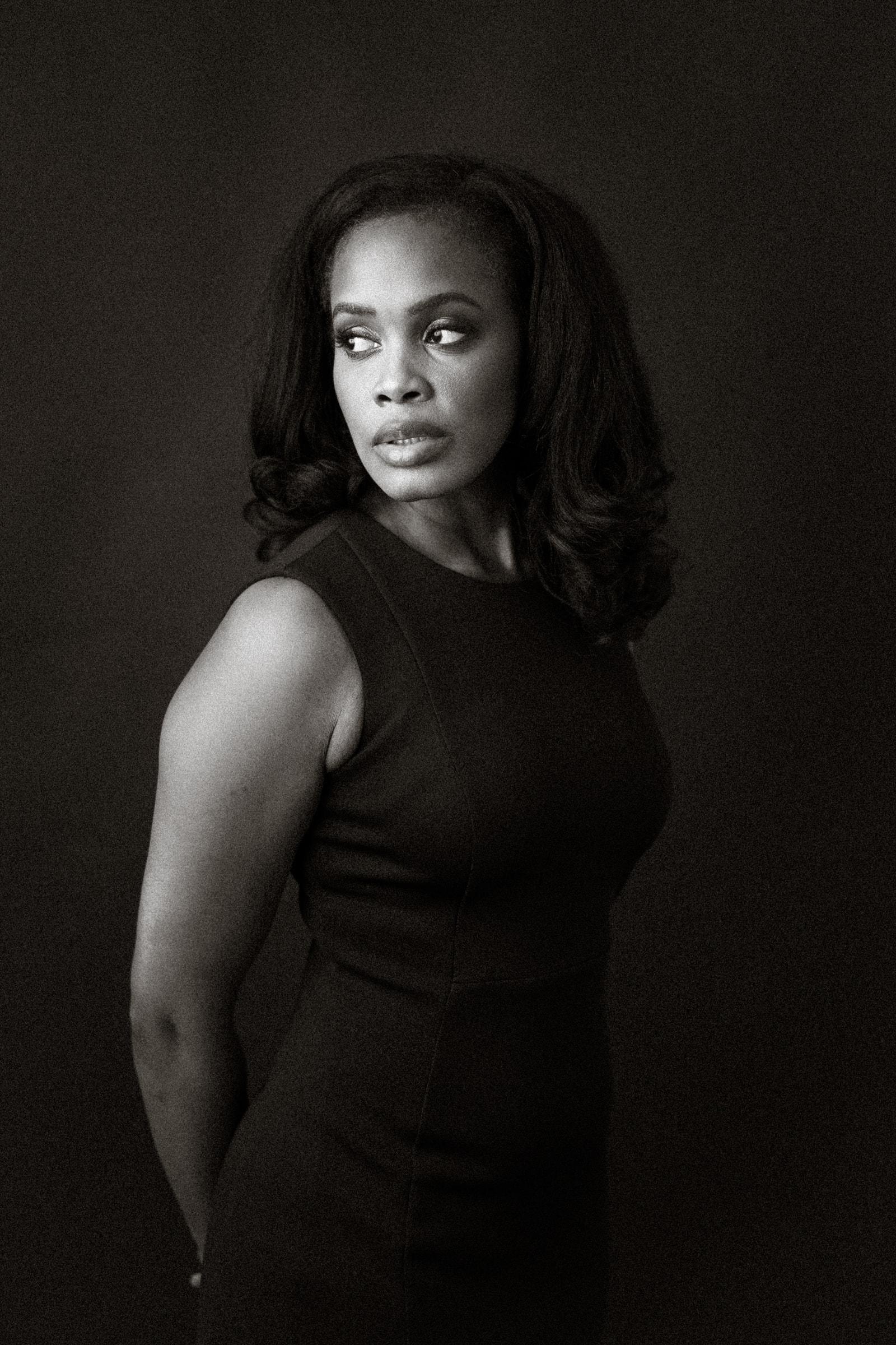 raleigh headshot photographer - Stephanie's portrait in B&W