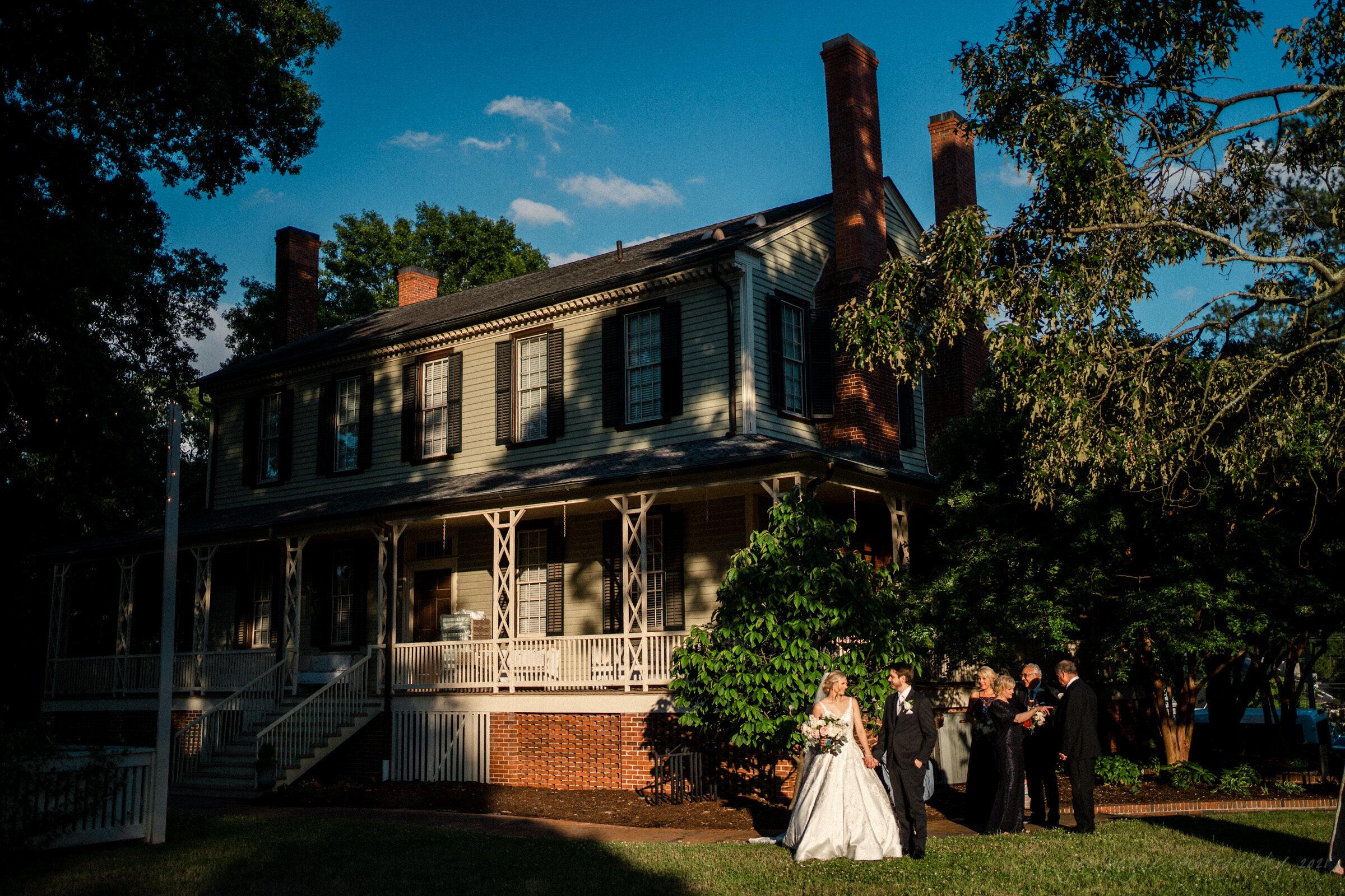 Howard Memorial Presbyterian Church Blount Bridgers House Tarboro NC Wedding Julianne John 28